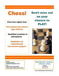 Southisde Junior Chess Club Promotional Flyer